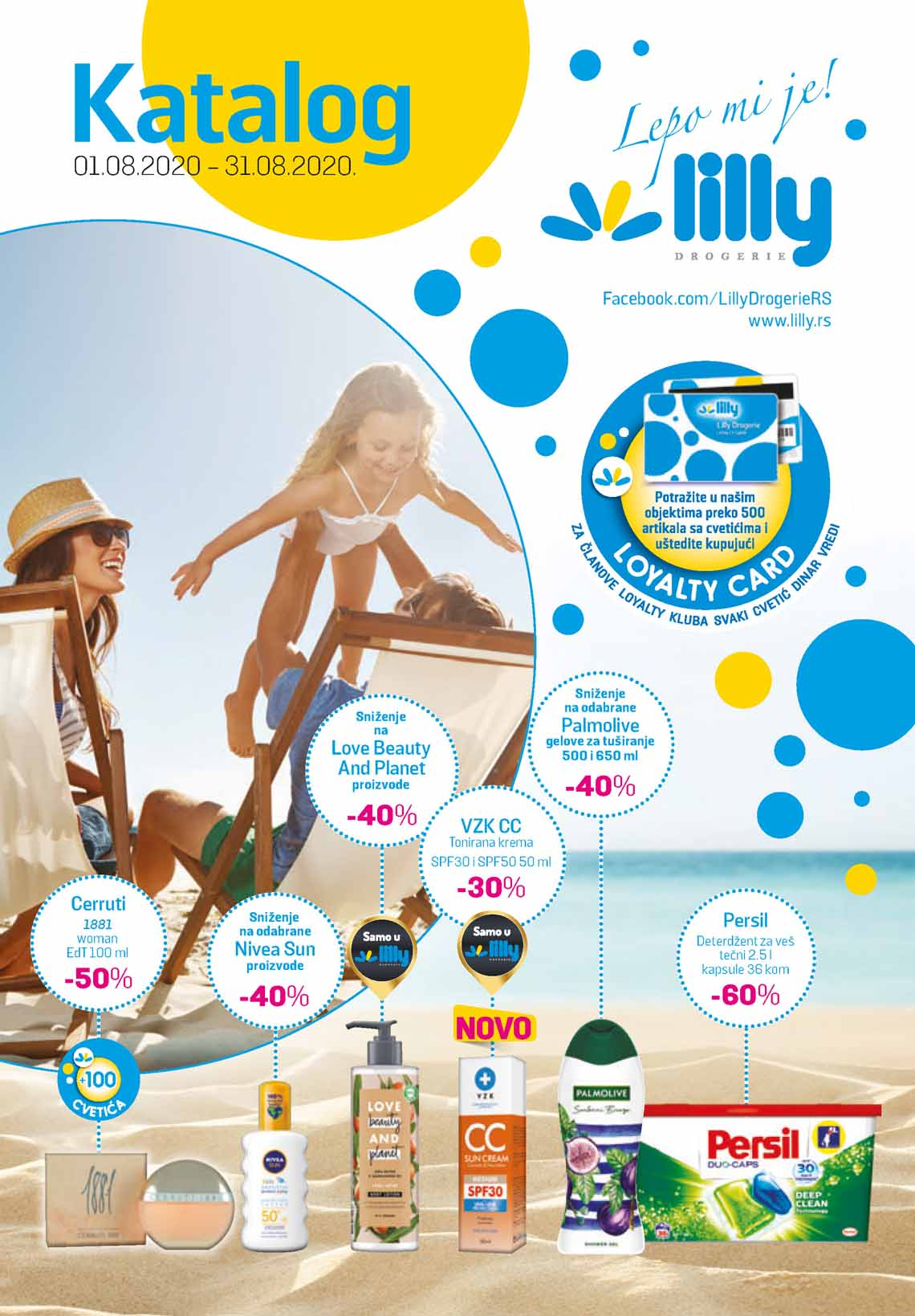 LILLY DROGERIE Katalog - Super akcija do 31.08.2020.