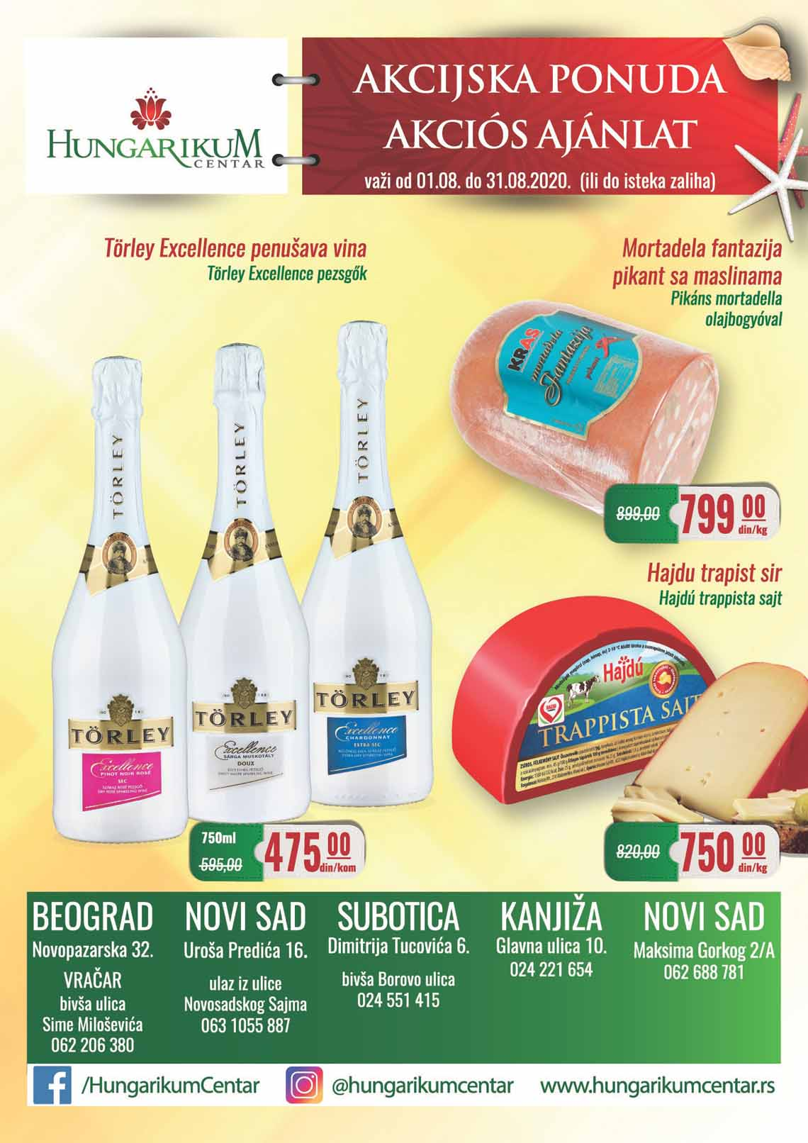 HUNGARIKUM KATALOG - Super akcija sniženja do 31.08.2020.