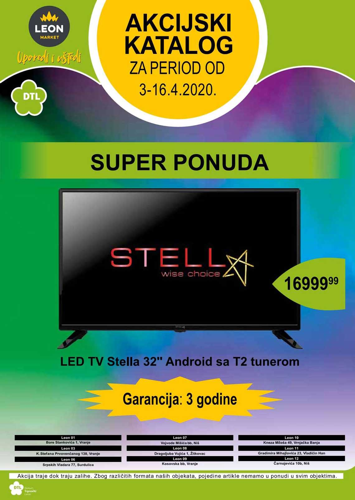 LEON MARKET Katalog - Super akcija do 16.04.2020.