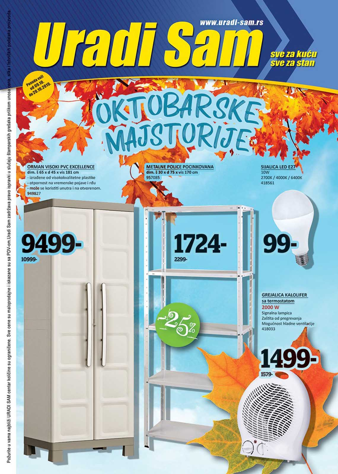 URADI SAM KATALOG Super akcija do 20.10.2019.