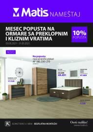 MATIS NAMJEŠTAJ KATALOG - MESEC POPUSTA NA ORMARE SA PREKLOPNIM I KLIZNIM VRATIMA -  Akcija do 31.05.2021
