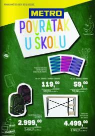 METRO - POVRATAK U ŠKOLU - Akcija do 11.08.2021.