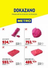 METRO - DOKAZANO - Akcija do 25.09.2021.