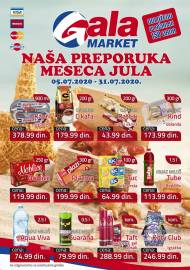 GALA MARKET Katalog - Super akcija do 31.07.2020.