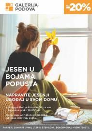 GALERIJA PODOVA - JESEN U BOJAMA POPUSTA - Akcija sniženja do 30.10.2020.