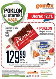 GOMEX AKCIJA - POKLON U UTORAK - Akcija za 12.11.2019.