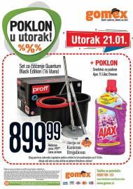 GOMEX AKCIJA - POKLON U UTORAK - Akcija za 21.01.2020.