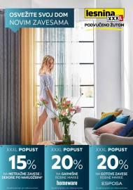 LESNINA Katalog - OSVEŽITE SVOJ DOM NOVIM ZAVESAMA - Akcija sniženja do 30.06.2020.