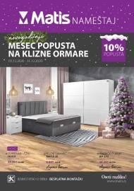MATIS NAMJEŠTAJ KATALOG - NOVOGODIŠNJI MESEC POPUSTA NA KLIZNE ORMARE -  Akcija do 31.12.2020