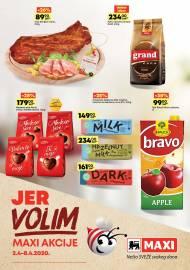 MAXI - JER VOLIM MAXI AKCIJA. Super akcija sniženja do 08.04.2020.