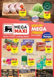 MEGA MAXI - NEDELJNA MEGA PONUDA. Super akcija sniženja do 21.10.2020.