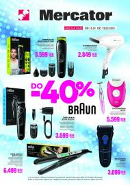 MERCATOR AKCIJA - BRAUN do -40% - Super akcija do 31.01.2021.