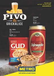 METRO KATALOG - PIVO I GRICKALICE - Akcija do 29.07.2020.