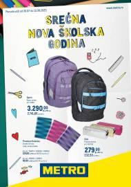 METRO KATALOG - SREĆNA NOVA ŠKOLASKA GODINA - VAŠ USPJEH JE NAŠ POSAO - Akcija do 12.08.2020.
