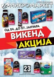MIKROMARKET - MESTO KOJE VOLIM - VIKEND Akcija do 27.01.2020
