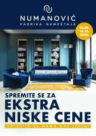 NUMANOVIĆ Katalog - EXTRA NISKE CIJENE! Akcija sniženja do 18.10.2020.