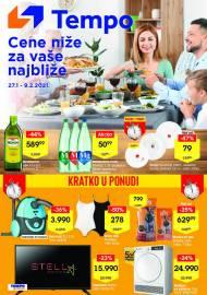 TEMPO Akcija - CENE NIŽE ZA VAŠE NAJBLIŽE - Super sniženja do 09.02.2021.