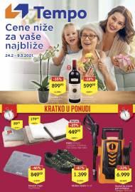 TEMPO Akcija - CENE NIŽE ZA VAŠE NAJBLIŽE - Super sniženja do 09.03.2021.