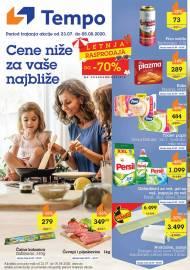 TEMPO Akcija - CENE BLIŽE ZA VAŠE NAJBLIŽE - Super sniženja do 05.08.2020.