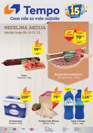 TEMPO Akcija - NEDELJNA TOP PONUDA - CENE BLIŽE ZA VAŠE NAJBLIŽE  - Super sniženja do 11.12.2019.