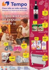 TEMPO Akcija sniženja - TOPLO KOD KUĆE UZ CENE VRUĆE - Super sniženja do 05.02.2020.