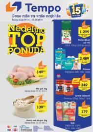 TEMPO Akcija - NEDELJNA TOP PONUDA - CENE BLIŽE ZA VAŠE NAJBLIŽE  - Super sniženja do 13.11.2019.