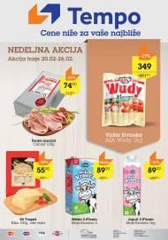 TEMPO Akcija - NEDELJNA TOP PONUDA - CENE BLIŽE ZA VAŠE NAJBLIŽE  - Super sniženja do 26.02.2020.