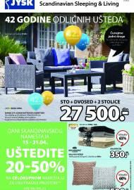 Jysk ponuda - JYSK Katalog - 42 GODINE ODLIČNIH UŠTEDA - UŠTEDITE DO 65%! AKCIJA SNIŽENJA DO 28.04.2021.