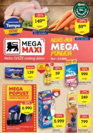 MEGA MAXI - NEDELJNA MEGA PONUDA. Super akcija sniženja do 03.03.2021.