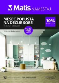 MATIS NAMJEŠTAJ KATALOG - MESEC POPUSTA NA DEČIJE SOBE -  Akcija do 31.08.2021