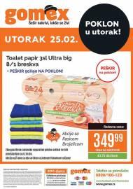 GOMEX AKCIJA - POKLON U UTORAK - Akcija za 25.02.2020.