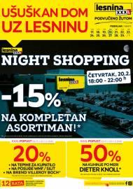 LESNINA Katalog - UŠUŠKAN DOM UZ LESNINU - Akcija sniženja do 01.03.2020.