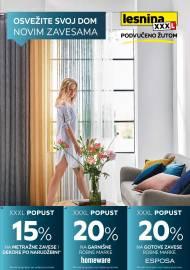 LESNINA Katalog - OSVEŽITE SVOJ DOM NOVIM ZAVESAMA - Akcija sniženja do 01.05.2020.