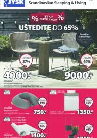 Jysk ponuda - JYSK Katalog - LETNA SUPER AKCIJA - UŠTEDITE DO 65%! AKCIJA SNIŽENJA DO 23.06.2021.